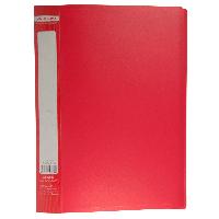$Папка пластиковая с 30 файлами JOBMAX А4 красная