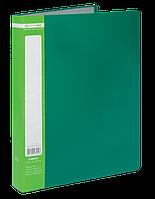 $Папка пластиковая с 40 файлами JOBMAX А4 зеленая