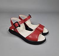 Женские кожаные босоножки с открытым носком и пяткой 36-41 р