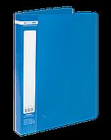 $Папка пластиковая с 60 файлами JOBMAX А4 синяя
