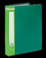 $Папка пластиковая с 60 файлами JOBMAX А4 зеленая