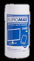 $/Салфетки для чистки экранов мониторов и оптики JOBMAX влажные 100 шт в пласттубе