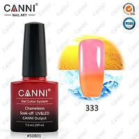 Термо гель-лак Canni №333 (пастельный оранжевый-светлый розовый) , 7,3 мл