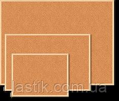 $Доска пробковая JOBMAX 60x90 см деревянная рамка