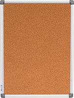 $Доска пробковая 45x60см вертикальная алюминиевая рамка