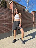 Жіночі стильні джинсові шорти бермуди, фото 1