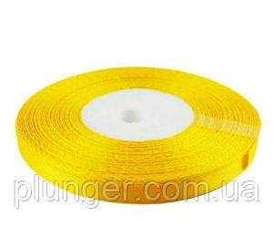 Стрічка атласна для пакування, 0,9 см Желтый