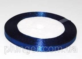 Стрічка атласна для пакування, 0,9 см Темно-синий