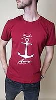 Чоловіча трикотажна футболка Якір розмір 44-52, колір уточнюйте при замовленні, фото 1