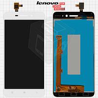 Дисплейный модуль (дисплей + сенсор) для Lenovo S60, белый, оригинал