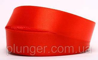 Стрічка атласна для пакування, 2,5 см Красный