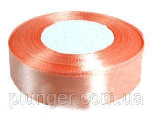 Стрічка атласна для пакування, 2,5 см Персиковый