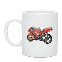 Чашка с нанесением  Honda NR, печать на чашках и кружках, деколь