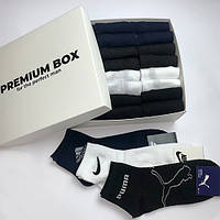 Подарочный набор носков для мужчин Nike, Puma, Adidas (копия), хлопок, 24 пары/уп. (арт. 1764), фото 1