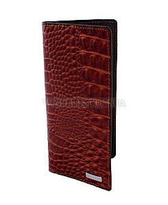 Купюрница мужская кожаная VIVA, рыжий крокодил
