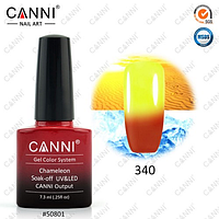 Термо гель-лак Canni №340 (красный-желтый) , 7,3 мл