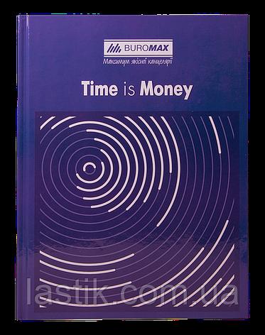 /Книга канцелярская TIME IS MONEY А4 96 л клетка офсет твердая ламинированная обложка синяя, фото 2
