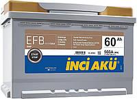 Аккумулятор Inci Aku Nanogold Start-Stop EFB 60Ah/560A R+ Автомобильный L2 060 056 013 АКБ Турция НДС