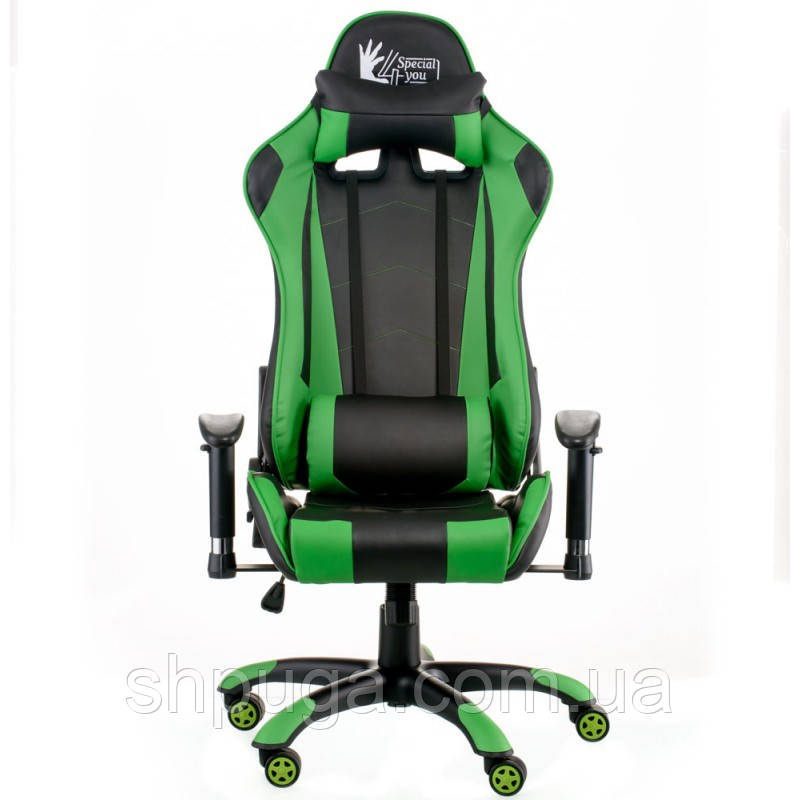 Крісло Special4You ExtremeRace black/green E 5623