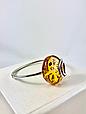 Браслет серебряный с янтарем 1057BRC2-k, фото 5