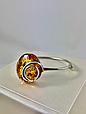 Браслет серебряный с янтарем 1057BRC2-k, фото 3