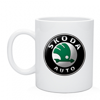 Чашка Skoda логотип