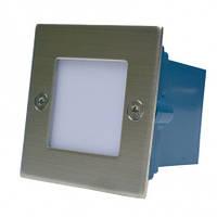 Світильник діодний HL G 03202 SN 230V, 0,8W, IP54, сат-нік., фото 1