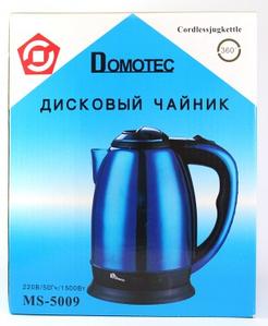 """ЧАЙНИК ЭЛЕКТРИЧЕСКИЙ ДИСКОВЫЙ """"DOMOTEC"""" MS 5009"""