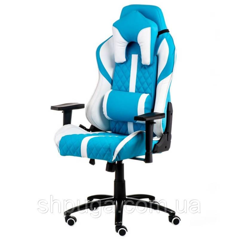 Кресло геймерское еxtrеmеRacе light bluewhite Е 6064