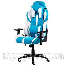 Крісло геймерське еxtrеmеRacе light bluewhite Е 6064