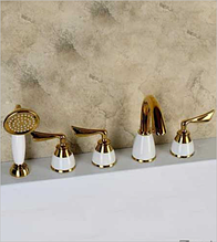 Смеситель для ванны врезной  LILI-5 GOLD