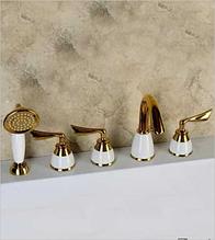 Змішувач для ванни врізний LILI-5 GOLD