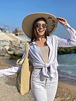 Жіноча стильна пляжна капелюх, фото 1