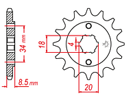 Звезда передняя JT Sprockets JTF270.13 (Geon X-ROAD 250)