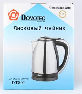 """ЧАЙНИК ЭЛЕКТРИЧЕСКИЙ ДИСКОВЫЙ """"DOMOTEC"""" MS 801"""