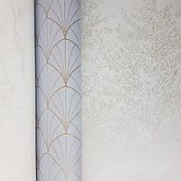 Шпалери вінілові на флізелін Caselio The Place to bed 0.53х10 м природа дерева гілки сріблясті на білому, фото 1