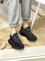 Жіночі кросівки Yeezy Boost 350 Black/White*(Full ref), фото 1