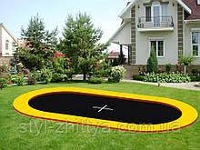 Грунтовой батут KIDIGO Oval 4,4х2,4 (222707)