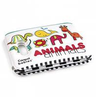 Игрушка-книжечка мягкая с пищалкой Цветные зверюшки Canpol Babies (74/009)