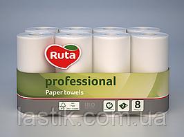 /Полотенца бумажные RUTA Professional 8 рул на гильзе 2х сл белый