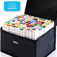 Набор профессиональных двусторонних маркеров для скетчинга Touch 100 цветов, Фломастеры для художников