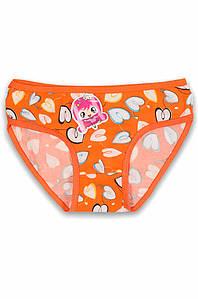 Трусики  детские девочка оранжевые размер 6-7 AAA 131192P