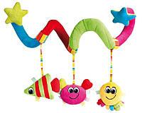 Игрушка мягкая на коляску спираль Цветной океан Canpol Babies (68/013)