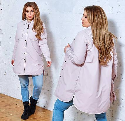 """Женская лёгкая куртка в больших размерах 1266 """"Плащёвка Рубашка"""" в расцветках"""
