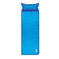 Самонадувний килимок Nils Camp NC1006 186 x 65 x 2.5 см Blue, фото 1