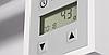Квадратный электроТЭН TERMA KTX3 chrome с экраном LCD + регулятор 30-60С + таймер 24 ч.; в полотенцесушитель, фото 2