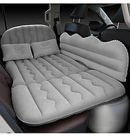 Автомобильный матрас в машину на заднее сиденье с насосом, 4 клапана, серый