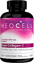 Super Collagen+C Type 1&3 6,000 mg Neocell 120 tabs