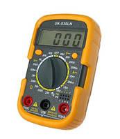 Мультиметр UK-830LN цифровой портативный звуковая прозвонка подсветка память
