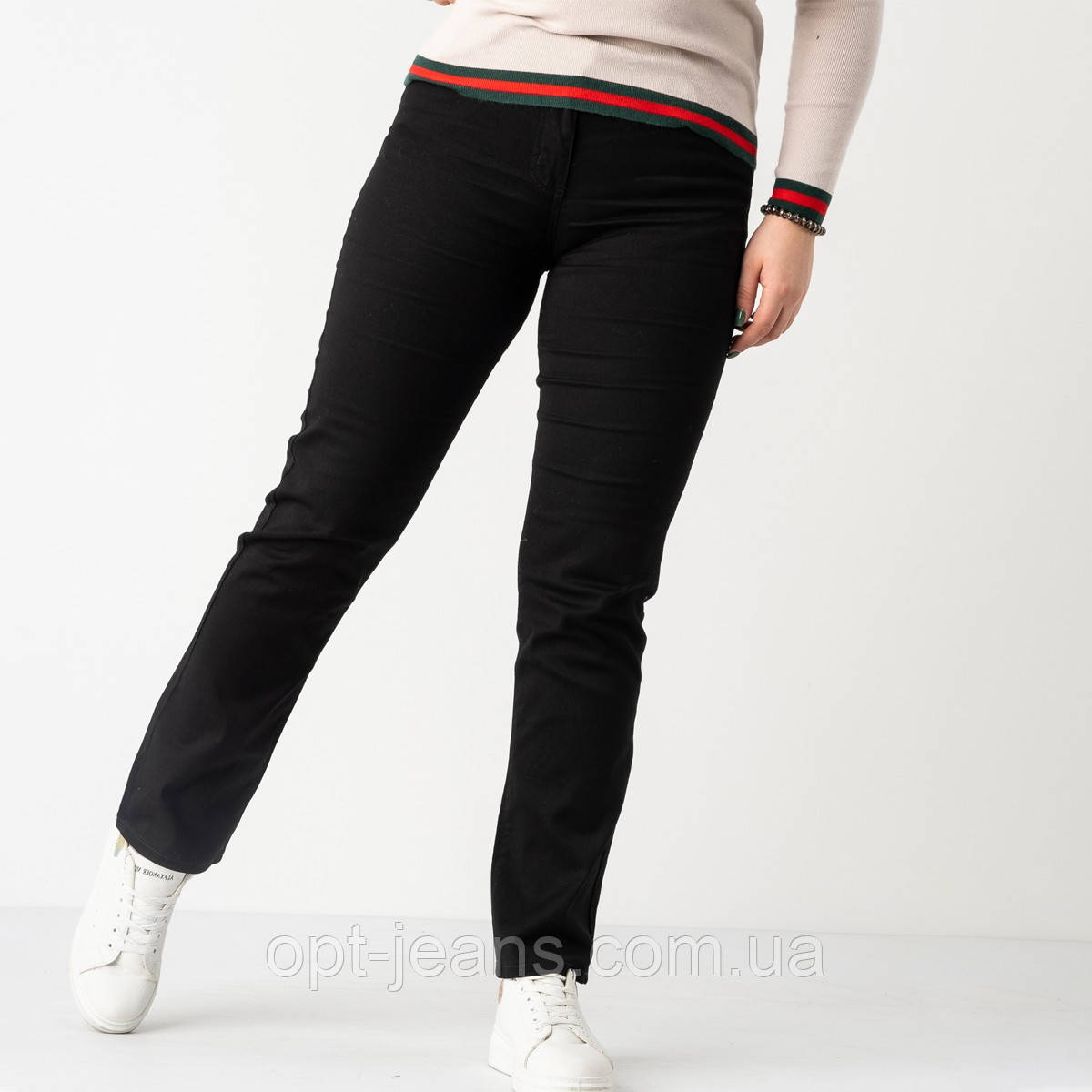 9766 Sunbird черные джинсы женские батальные  стрейчевые (6 ед. размеры: 30.32.34.36.38.40)